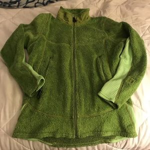 Patagonia Green fur zip up jacket - size M